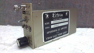 Ectron Differential Dc Amplifier 418amwy-10 Used 418amwy10