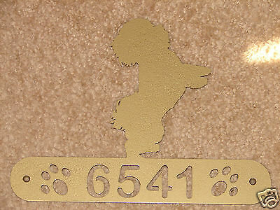 BICHON FRISE METAL HOME ADDRESS SIGN HOUSE DECOR DOG  ()
