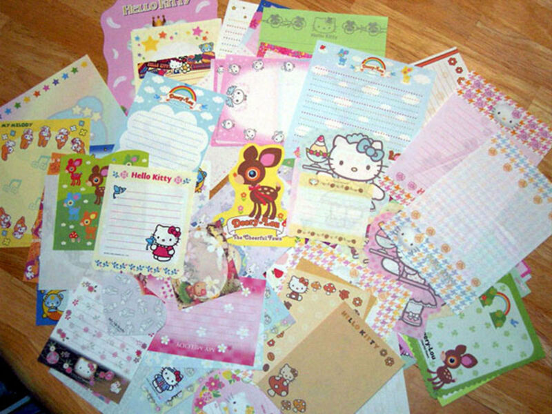 Lot Sanrio Hello Kitty Stationery / Stationary Memo Paper 60 sheets