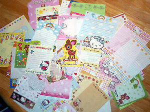 5be8878d2f40 Lot Sanrio Hello Kitty Stationery   Stationary Memo Paper 60 sheets