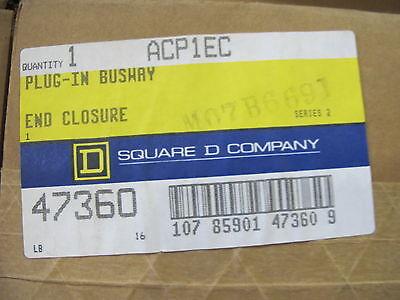 Square D Acp1ec 100 Amp Bus Duct End Closure New