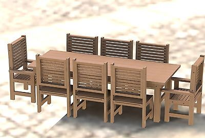 8ft Redwood Patio Table with Chairs Step by Step Building Plans ()