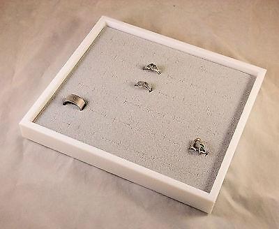 36 Ring Display Case White With Gray Velvet Insert