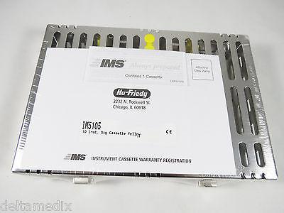 Small Signature Series 10 Instrument Cassette Yellow Im5105 Hu Friedy Original