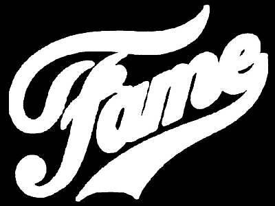 ✿✿✿ WHITE FAME DARK IRON ON TRANSFER DANCE 80'S ✿✿✿