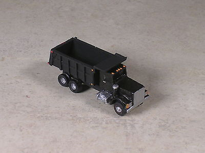 N Scale 1996 Black Kenworth Dump Truck with black back.