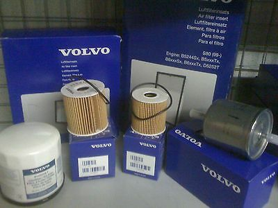 Volvo Service Kit D5 Diesel Genuine Oil Air Fuel Filters S60/V70/S80/C30/XC90