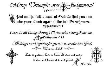 Tattoo Verse (Bible Verse Temporary Tattoos / Scripture)