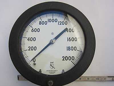 Ashcroft Duragauge 0-2000 Psi Pressure Gauge New