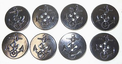 GENUINE U.S. NAVY PEA COAT BUTTONS (Set of 8-NEW)
