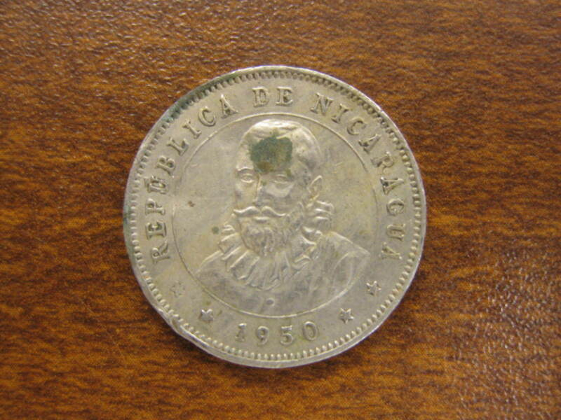 1950 Nicaragua 25 Centavos