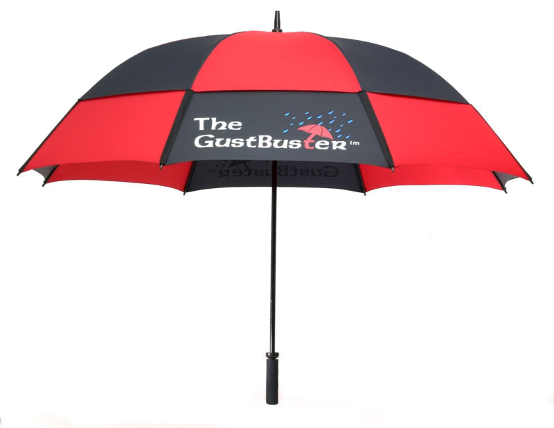 """GustBuster Pro Series Gold 62""""  or 68"""" Dual Canopy Windproof Umbrella"""
