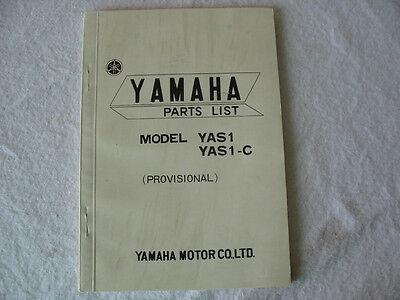 1969 69 YAMAHA YAS1 125 YAS1-C PARTS CATALOG BOOK PROVISIONAL LIST RARE NOS