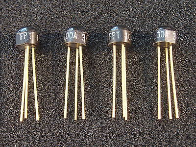 Qty 4 Dome Top Fairchild Fpt100a Photo Transistor Gold Fpt100 Nos Top Quality