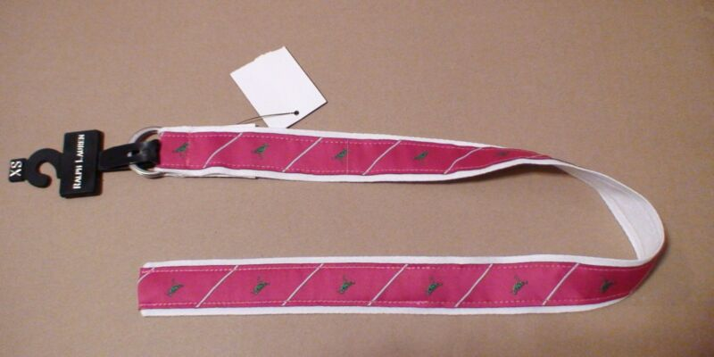 Ralph Lauren kid Magenta Fuchsia Pink Green Bird Animal Silver Buckle Belt XS NU