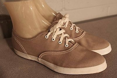 4.5 NOS GIRLS CHILDS Vtg 70s LaCrosse USA TAN CANVAS Gym SNEAKER Tennis Shoe