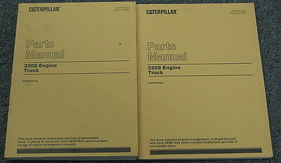 Caterpillar Cat 3208 Truck Engine Parts Manual Set 51z55824-up