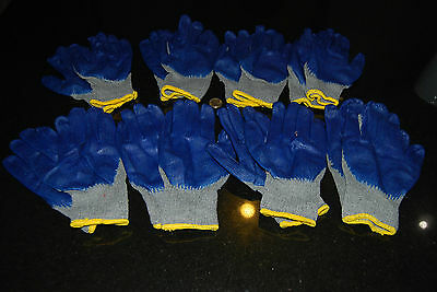 Lot Of 40 Pairs Heavy Duty Premium Palm Coating Work Gloves One Size Fit All