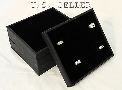 5 Quantity 36 Ring Jewelry Display Case Box