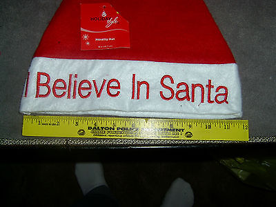 Novelty Christmas Hat I Believe in Santa  (A-17) - Christmas Novelty Hats