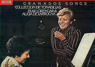 """GRANADOS TONADILLAS & CANCIONES AMATORIAS LORENGAR DE LARROCHA 12"""" LP L7692"""