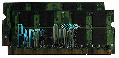 2GB Kit (2 x 1GB) PC2-5300 DDR2 SODIMM HP Pavilion dv8000t Notebook Memory RAM