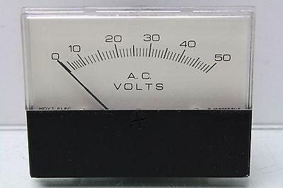 Hoyt Electric 3126 Series Pt. 1.437 0-50vac Voltage Panel Meter