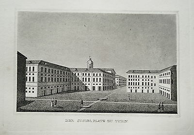 Turin Turino  Italien Italia Susina Platz alter  Kupferstich 1835