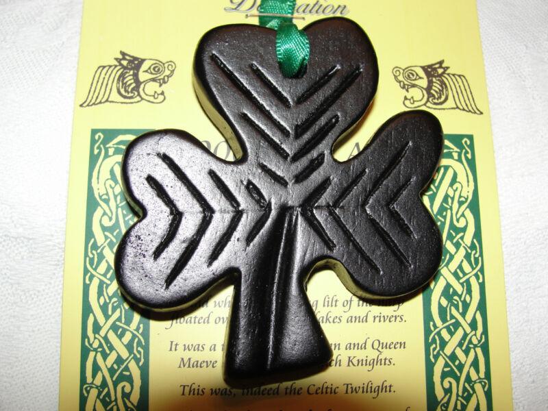 Shamrock Ornament Island Turf Crafts Black Bog Collection County Tyrone