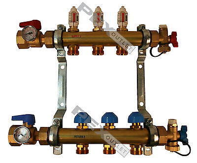 Rehau Pro-balance Radiant Floor Heat Manifold For Pex Pipe - 3 Circuit