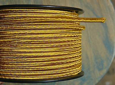 Gold 2-Wire Cloth Covered Cord, 18ga. Vintage Style Lamps, Antique Lights, Rayon - Lights Clothing