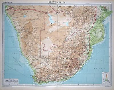 1920 LARGE MAP ~ SOUTH AFRICA ~ CAPE COLONY TRANSVAAL ~ 23