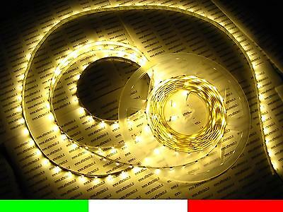 5m LED STRIP STRISCIA BIANCO CALDO CON ALIMENTATORE 12V C1F3.B1B1
