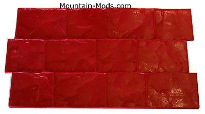 4 London Cobble Stone Texture Set Decorative Concrete Cement Stamps Mats New