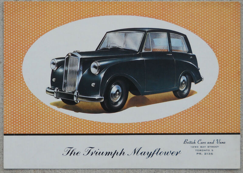 Triumph Mayflower 1952 colour brochure