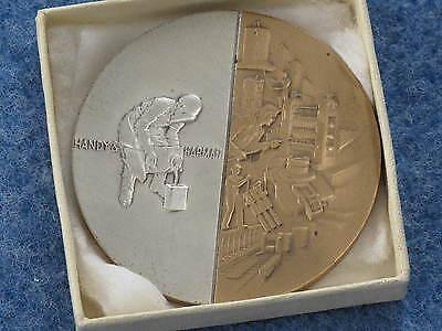 1967 Handy   Harman Sterling Silver Inset Bronze Medal Medallic Art Co  B8315