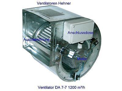 Ventilator Lüfter Motor Gebläse für Dunstabzugshaube Lüftung und Klima 1700m3/h