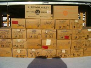 10 Allen Bradley Carbon Comp Resistors  1/4 watt 5%