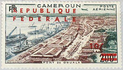 CAMEROUN KAMERUN 1961 342 I C39a Port de Douala new currency ovp Hafen Ships MNH