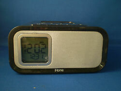iHome iH22 Dual Alarm Clock Speaker System for iPod/iPhone - Crystal Tunes Gray