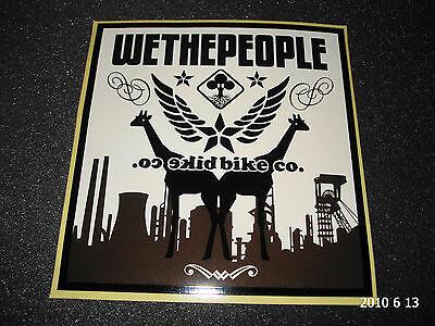 1 AUTHENTIC WETHEPEOPLE BMX BICYCLES STICKER / DECAL #15 AUFKLEBER