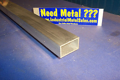 6063 T52 Aluminum Rectangle Tube 1-12 X 2-12 X 60-long X 18 Wall--new