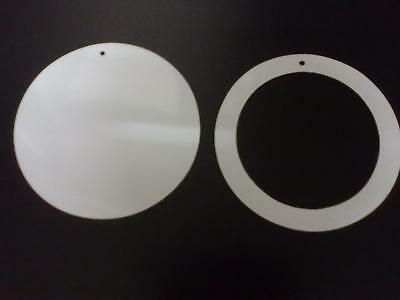 WHITE MAGNETIC CAR TAX DISC HOLDER - new design BOTH ITEMS ARE WHITE