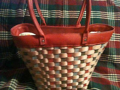Longaberger 2008 Mothers Day To Go Summer Tote Bag Basket-NEW--SALE!!!