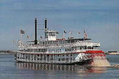 Natchez, Mississippi Riverboat, Paddle Wheel, New Orleans, LA --- Ship Postcard