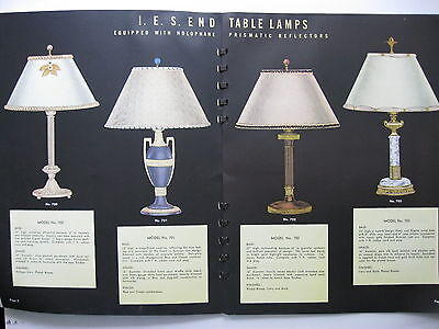 TWO 1937 TERRY - DURIN COMPANY, TABLE & FLOOR LAMPS, LIGHTING, CATALOG CATALOGS