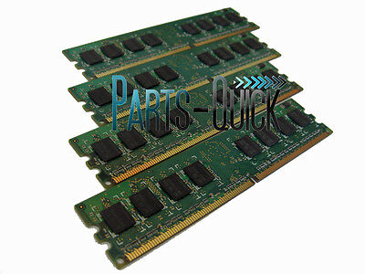 - 4GB  4 X 1GB DDR2 PC2-5300 667Mhz 240 pin Dell  Dimension E520 E521 Memory RAM