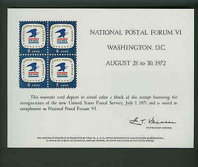 SC23 NATIONAL POSTAL FORUM VI USPS SOUVENIR CARD 1972