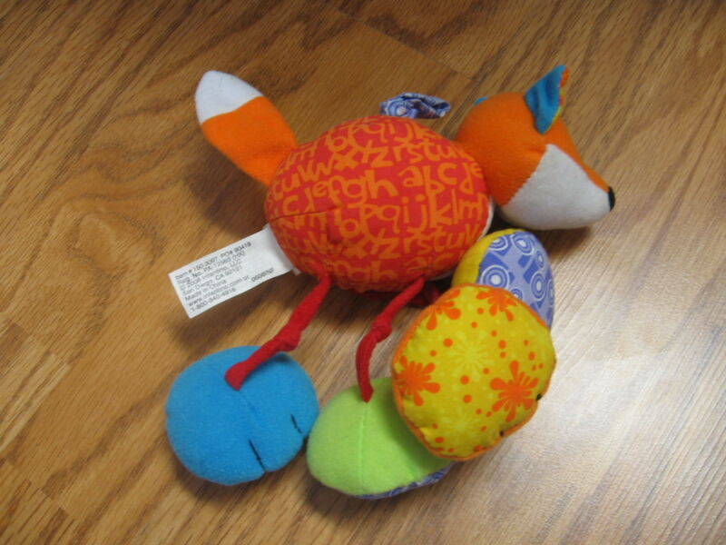 "Infantino 6"" plush vibrate rattle baby toy, good condition"