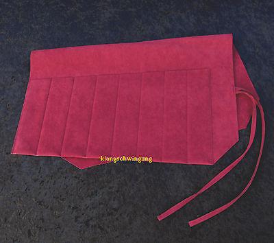 8er Stimmgabel Tasche universal Rolltasche Etui bordeaux Stimmgabeltasche